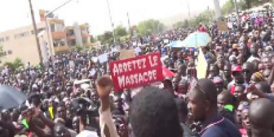 Marche de protestation contre les massacres au centre du Mali